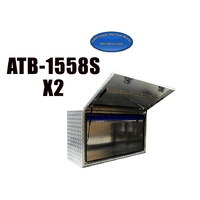 Full Open Door 1500x550x850 Aluminium Tool Box  X2 + FREE BINS image