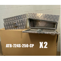 Under Body Slant Tool Box 750x250x400 Checker Plate image
