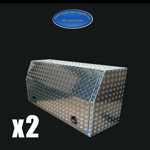 Full Open Door 1500x600x820 Aluminium Tool Boxes x2+ FREE BINS